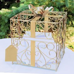 Exclusively Weddings | Gold Gift Card Holder