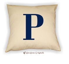 Letter Pillow Cover Your Choice of Letter and by henhouseoriginals, $24.00