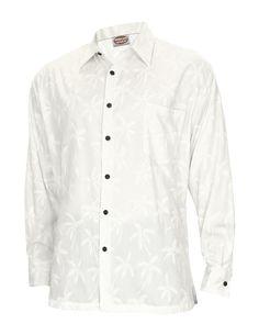 Check out the deal on Hawaiian Long Sleeves Shirt Tropical Palms White at Hawaiian Wedding Place #hawaiianshirt #shirts #alohashirt