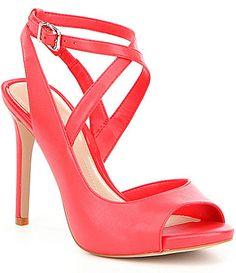 070dbb6f45b Gianni Bini Aminaa Leather Criss Cross Ankle Strap Dress Sandals  Dillards Ankle  Strap Heels