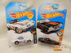 HOT WHEELS '69 CORVETTE & '72 GRAN TORINO SPORT! MIXED LOT: 2 MUSCLE CARS! NEW! #HotWheels #FORDCHEVY