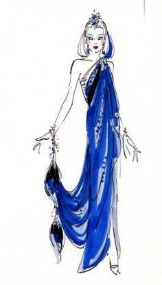 Bob Mackie design rendering, Jubilee finale. Las Vegas, June 5, 1980