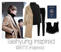 """Taehyung Inspire Airport Fashion"" by bts-inspired ❤ liked on Polyvore featuring AG Adriano Goldschmied, This Is Ground, Dr. Martens, Line and Jil Sander"