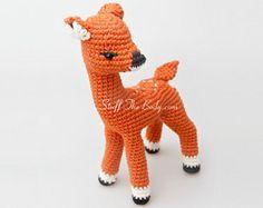 Crochet Fawn, Deer, le faon, amigurumi