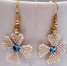 Jeweled Quatrefoil Earrings Pattern