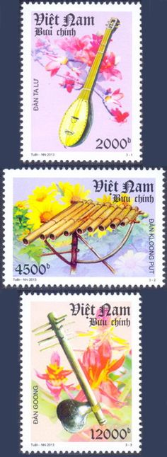 Vietnamese National Musical Instruments featured on stamps