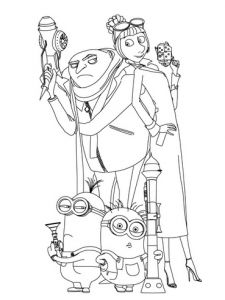 Free Despicable Me Coloring Pages