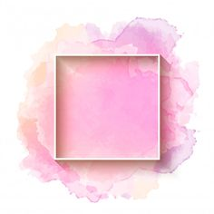 Beautiful watercolor background with frame Free vector - Modern Pink And White Background, Gold Glitter Background, Beauty Background, Wedding Background, Frame Floral, Rose Frame, Heart Frame, Pink Watercolor, Watercolor Background