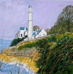 Deborah Phillips_West Light Tayport_Hand Embellished Signed Limited Edition_15x15 l Scottish Contemporary Art