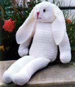 Crochet Chenille Rabbit (free pattern)