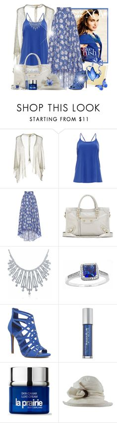 """""""~Flower and Butterfly~"""" by li-lilou ❤ liked on Polyvore featuring DailyLook, LUISA BECCARIA, Balenciaga, Bling Jewelry, Nine West, Urban Decay, La Prairie and Suzanne Couture Millinery"""
