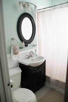 Small bathroom bathroom-inspiration...light green blue colors