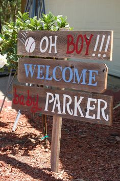 Welcome Home Baby Yard Sign Baseball Baby Shower Sign Decorations Its a Boy Sign Its A Girl Sign Baby Maternity Sign Wooden Signs Painted Welcome Baby Signs, Baby Boy Signs, Welcome Home Baby, Best Baby Shower Gifts, Baby Shower Signs, Baby Boy Shower, Baby Gifts, Baby Boys, Baby Boy Baseball
