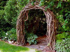 Stunning Creative DIY Garden Archway Design Ideas - Garden and Home Garden Archway, Garden Arbor, Garden Gates, Garden Entrance, Archway Decor, Herb Garden, The Secret Garden, Secret Gardens, Rustic Arbor