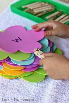 Fine Motor Alphabet Match for Spring ~ Learn Play Imagine