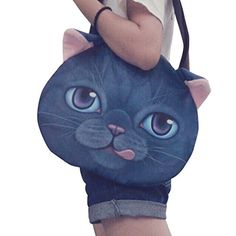 Cat Head Bag - Brand New and high qualityMaterial: Polyester cotton inner lining canvas strapSize: L H W IN (Approx)Pattern: printing Animal HeadPackage detail: 1 x Shoulder Bag (affiliate link)