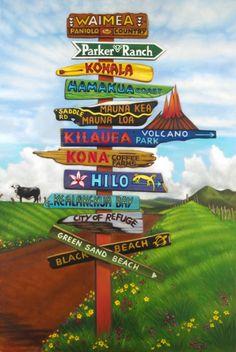 """Big Island ~ Hawaii """"Big Mana"""" sign post"""