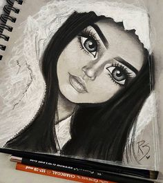 I love when I do my makeup and get to the highlighting part and @rosemaniego had it on point  #makeupgoals ~Dont stop dreaming~ Tools used: Strathmore toned grey paper Generals charcoal black and white and assorted pencils Pentel 0.7 mech...