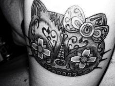 hello kitty sugar skull tattoo - Google Search