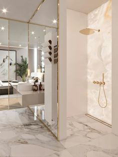 Luxury Bathroom Master Baths Marble Counters is definitely important for your home. Whether you choose the Luxury Bathroom Master Baths Photo Galleries or Luxury Bathroom Ideas, you will make the best Interior Design Ideas Bathroom for your own life. Luxury Interior Design, Bathroom Interior Design, Interior Decorating, Marble Interior, Gold Interior, Classic Interior, Luxury Home Decor, Interior Ideas, Contemporary Interior