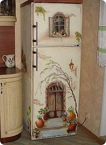 This is so cute. Even a standalone cupboard done this way would be cute for a kids room.