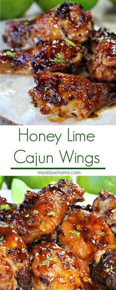 DINNER Citrus and spicy, with a hint of honey sweetness, these Cajun Honey Lime Chicken Wings may change the way you flavor your wings forever. The wings are oven baked, and basted with an amazing sauce that will make these wings a crowd favorite. Healthy Meals, Easy Meals, Healthy Recipes, Delicious Recipes, Stay Healthy, Easy Recipes, Honey Lime Chicken, Sesame Chicken, Chinese Chicken