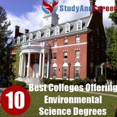 Environmental Science top 10 degrees to get