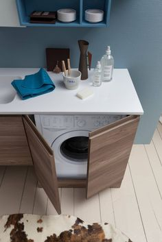 New Ideas bathroom storage ikea cupboards Bathroom Layout, Bathroom Interior Design, Modern Bathroom, Interior Design Living Room, Small Bathroom, Bathroom Ideas, Laundry Room Inspiration, Bad Inspiration, Small Laundry Rooms