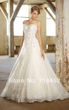 >> Click to Buy << 2014 Elegant Appliques Wedding Dresses A Line Organza Vestidos De Novia Bridal Gowns Free Shipping NW1653 #Affiliate