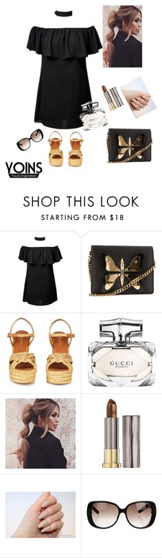 """Queen"" by eshlychenko ❤ liked on Polyvore featuring Gucci, Yves Saint Laurent and Urban Decay"