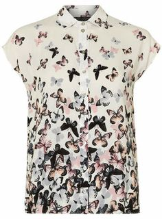 Ivory Butterfly Printed Shirt