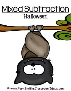 Fern's Freebie Friday ~ FREE Mixed Subtraction Halloween Quick Easy Center and Printable