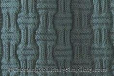 All-Over Basket Weave Knit Afghan