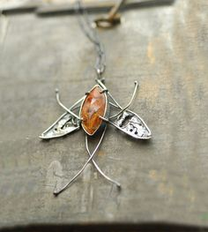 Luna Moth Dendritic Citrine Faceted Gemstone by TaylorsEclectic