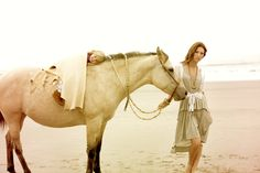 horses + fashion + beach <3