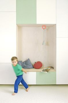 A new jäll & tofta storage space with a hidden guest bed and a cosy reading corner for the little ones.