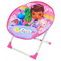 When Doc McStuffins isn't busy helping her animal friends, she's relaxing in her very own Doc McStuffins Moon Chair! This moon chair features a durable, yet lightweight, frame. Mickey Mouse Parties, Mickey Mouse Clubhouse, Mickey Mouse Birthday, Toy Story Birthday, Toy Story Party, 2nd Birthday, Doc Mcstuffins Toys, Bubble Guppies Birthday, Star Wars Light Saber