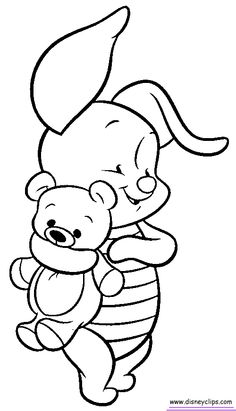 coloring pages are great to add to greeting cards - great to have ... - Disney Baby Piglet Coloring Pages