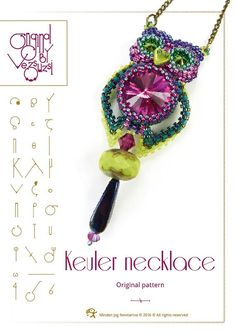 pendant tutorial / pattern Keuler the owl by beadsbyvezsuzsi