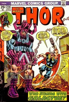 Thor #226 - Who Stands with Galactus? cover by John Romita and Frank Giancola