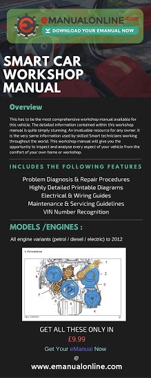 smart car service manual download