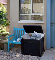 Keter 55 Gallon Resin Outdoor Deck Box Table in One with Patio Furniture Cushion Storage * Find out more about the great product at the image link.-It is an affiliate link to Amazon.