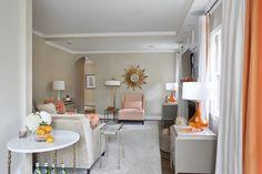 Roxanne Lumme Interiors www.roxannelumme.com tangerine family room |  Angie Seckinger Photography