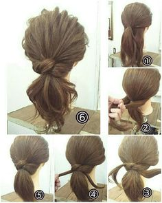 Super easy medium updo great for fall