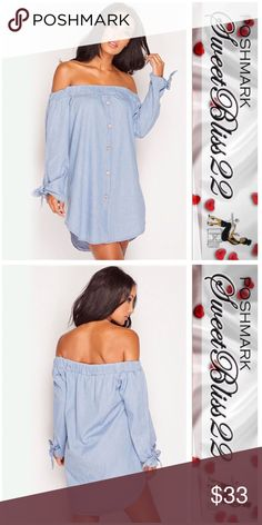 🍧Baby Blue Off The Shoulder Top🍧 This is the cutest top! Versatile, and stylish, Must have item! Limited amount available! Don't miss out! Tops