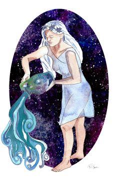 Aquarius the cosmic Water-bearer