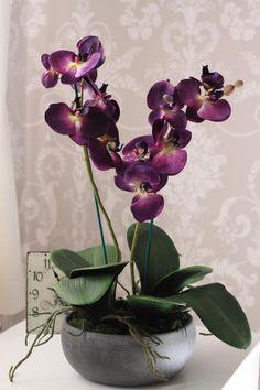 Deep purple orchids Artificial Silk Flower Arrangement - available on eBay www.stores.ebay.co.uk/typicallyuniqueflowersandgifts