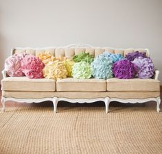 Custom Color Ruffle Rose Pillow, Small by That Funky Boutique - eclectic - pillows - Etsy