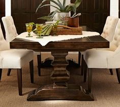 Banks Extending Dining Table | Pottery Barn **I wish I needed a dining table! This is exactly what I wanted. Foo. :(