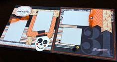 12x12 Halloween Scrapbook Layout 12x12 by JenSodowskyDesigns